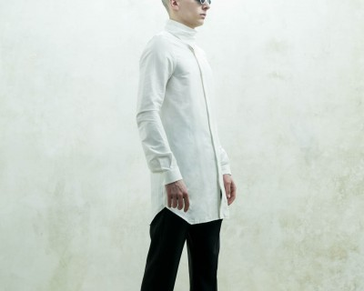 Rick Owens Shirt Collar Funnel