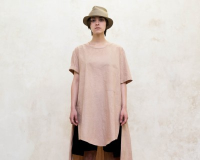 Uma Wang Long Pleated T-Shirt