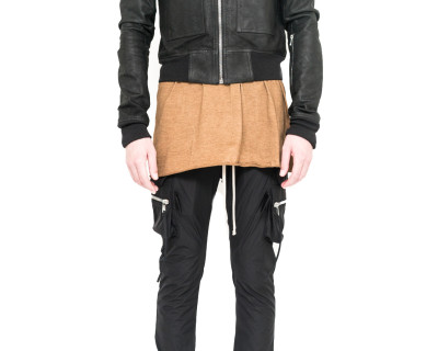 RICK OWENS – GLITTER TRENCH LEATHER JACKET
