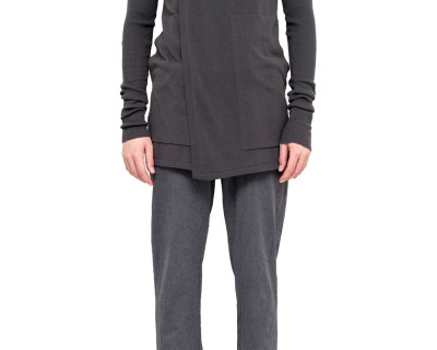 RICK OWENS – HOODED CARDIGAN IRON