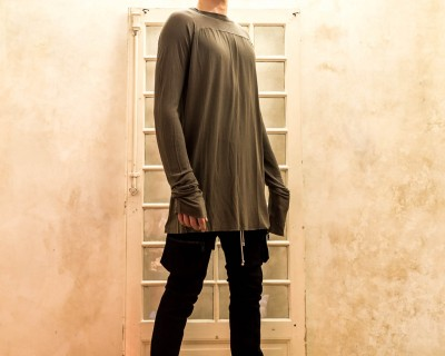 Rick Owens Extra Long Sleeve T-Shirt