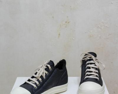 Rick Owens Shearling Low Sneaker