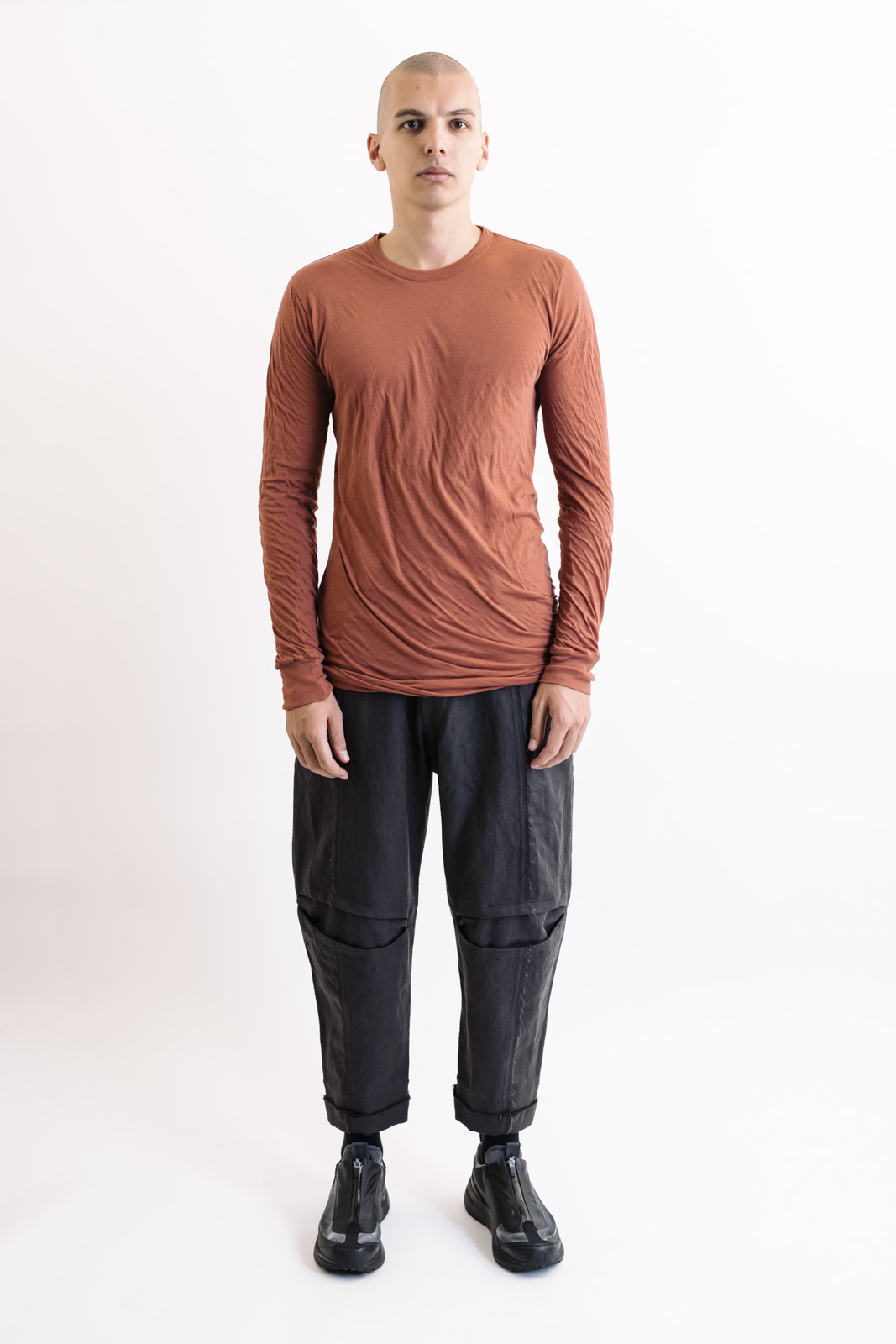 Rick Owens Double Long Sleeve Burnt Pink