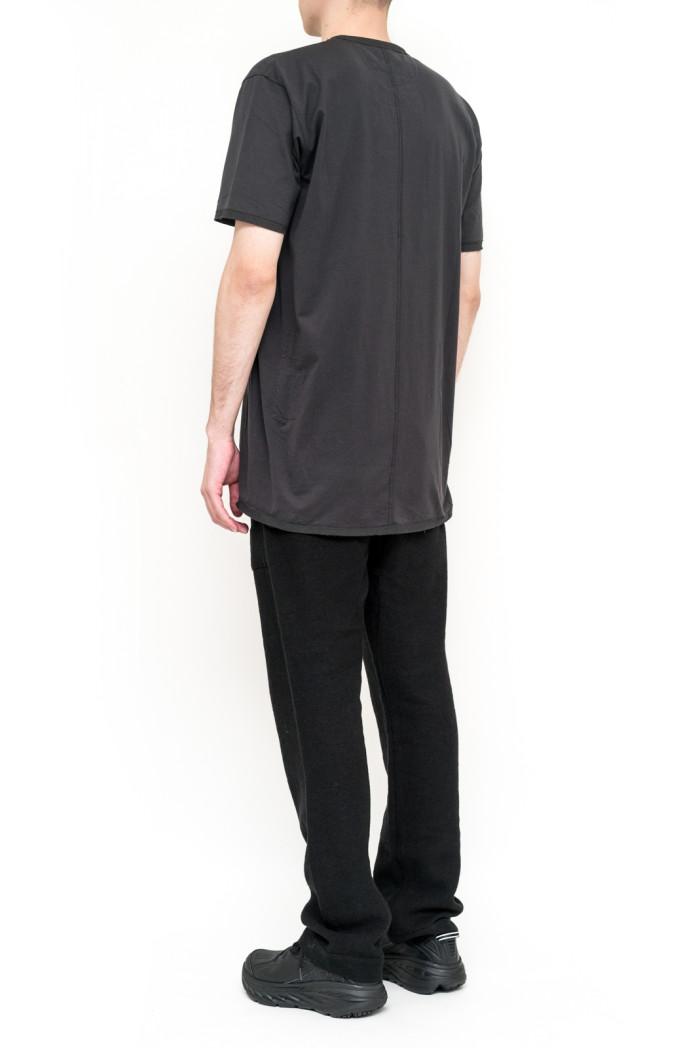 ziggy chen t shirt col tunisien noir essapmi. Black Bedroom Furniture Sets. Home Design Ideas