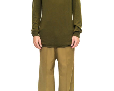 RICK OWENS – PULL COL ROULÉ DIRTY GREEN