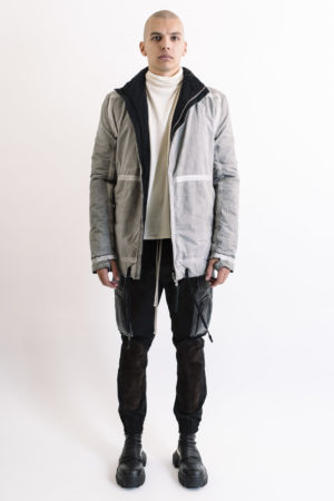 Rick Owens Reversible Padded Jacket1/F1502F-N/Grey/Black