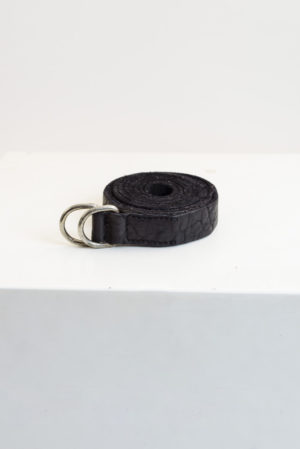 Guidi belts black bison full grain