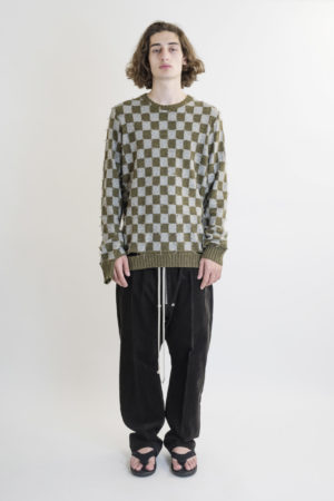 ZIGGY CHEN CHECKERED SWEATER