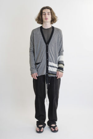 ZIGGY CHEN STRIPED CARDIGAN