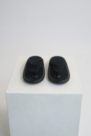 JOJO SANDAL - BLACK LINEN BLACK