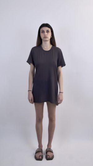 RICKOWENS WOMEN PLUM T-SHIRT